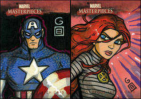 MM APs: Cap and Jean Grey by grantgoboom