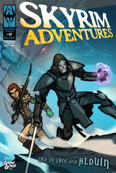 SKYRIM ADVENTURES comic cover by grantgoboom