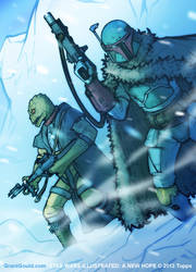 STAR WARS ILLUSTRATED: Bossk and Boba by grantgoboom