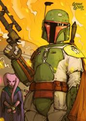 Star Wars Illustrated ESB: BOBA FETT by grantgoboom