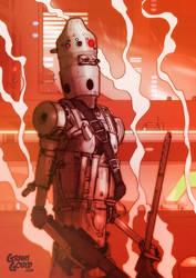 Star Wars Illustrated ESB: IG-88 by grantgoboom