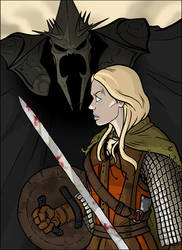 LOTR: Eowyn vs. the WitchKing by grantgoboom