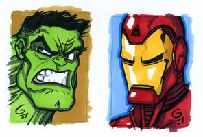 Hulk and Iron Man by grantgoboom