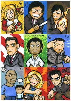 Cartoony HEROES by grantgoboom