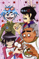 GoRiLLaZ-and Hoot xD by Hoot-Chan