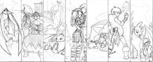 HTTYD: bookmark sketchies by pixarjunkie