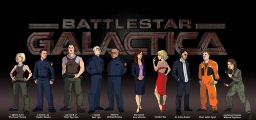 Battlestar Galactica Lineup by pixarjunkie