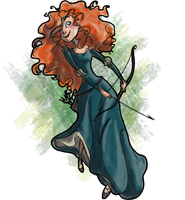 Merida by pixarjunkie