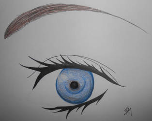 Blue Anime Eye by 88Black-Rose88
