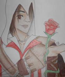 CM- Ezio And His Rose by 88Black-Rose88