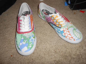 Zentangle Shoes 2 by 88Black-Rose88