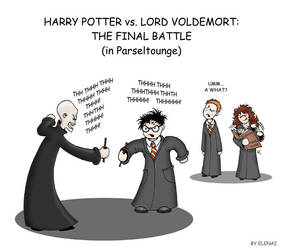 Comic: Harry vs Voldemort by Elenai