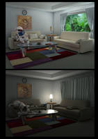 3D Room:Day-Night by subaru01rins