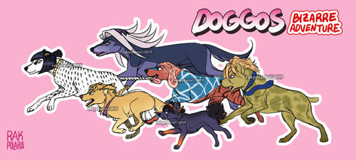 JJBA: Vento Aureo - Dogs Edition by RakPolaris