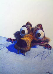 Squirrel Scrat by 3Tallulah