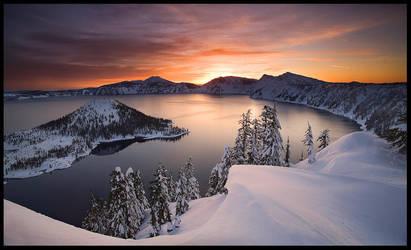 Crater Lake, Winter by MarcAdamus