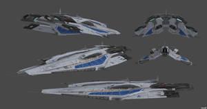 Alliance Frigate Concept V1 by nach77
