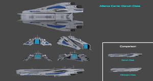 Alliance Aircraft Carrier Darwin Class Concept by nach77
