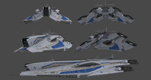 Alliance Destroyer - Alsek Class (Concept) by nach77