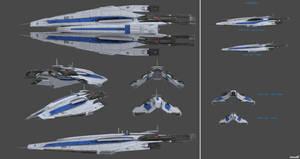 Alliance Frigate - Alamo Class by nach77