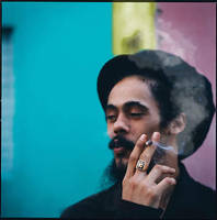 Damian Marley smoking a joint. by luisECG