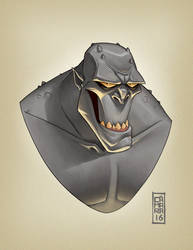 Killer Croc Portrait by CamaraSketch