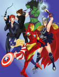 Gender bend Avengers by Rice-Lily