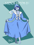 Commission: Gemsona- Moonstone by Rice-Lily