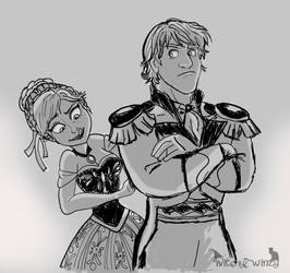 Kristoff And Anna - Prince Getup by Wiccatwolf