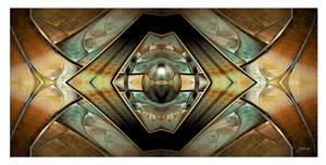 Aged Metallic Panel by 12CArt