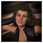 Covergirl Model Portrait Render by 12CArt
