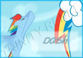 MLP Rainbow Dash Badge by trinityrenee