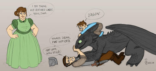Vimes meets Toothless by artsytarts