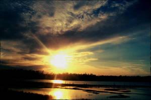 sun reflects by barobei
