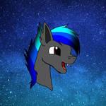 batpony headshot by shadowslayer23