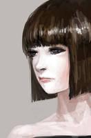sad faced girl by YUNGUARD