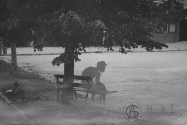 By the Bench by AG-sArt