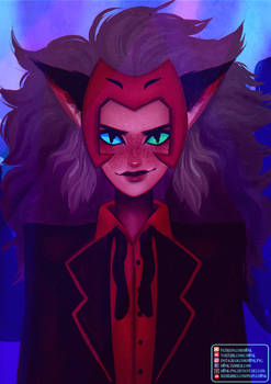 She-ra || Catra [Speedpaint] by H0nk-png