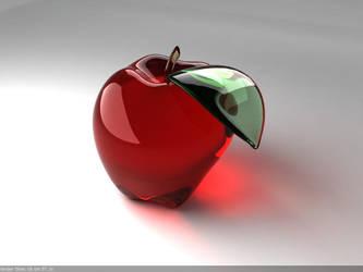 Glass Apple For Tutorial by lhnova