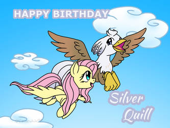 Happy Birthday Silver Quill by Eeveewhite97