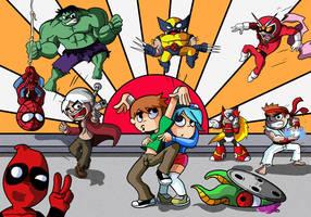Scott Pilgrim vs Marvel Capcom by Master-Angel