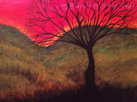 Branches on a Red Sky by SatiricMilk