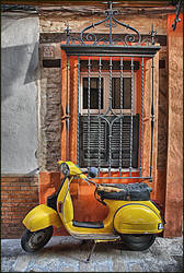 Yellow Vespa by CaneArgo