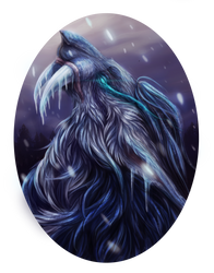 Maahes of the Frost. Completed Digital painting. by GHOST-FEVER