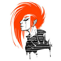 Quick graphic portrait. by GHOST-FEVER