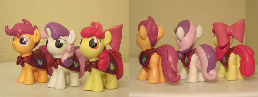 The Cutie Mark Crusaders Custom Sculpts 2 by Blackout-Comix