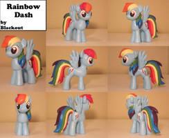 Rainbow Dash MLP FiM Sculpture Commission by Blackout-Comix