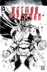 Batman sketchcover armored by ArtOfIDAN