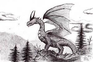 Dragon $-w- ballpoint pen by xTernal7