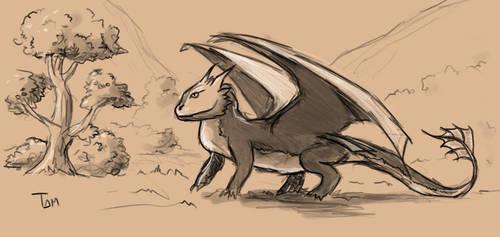 [Speedpaint] Bearded Dragon by xTernal7